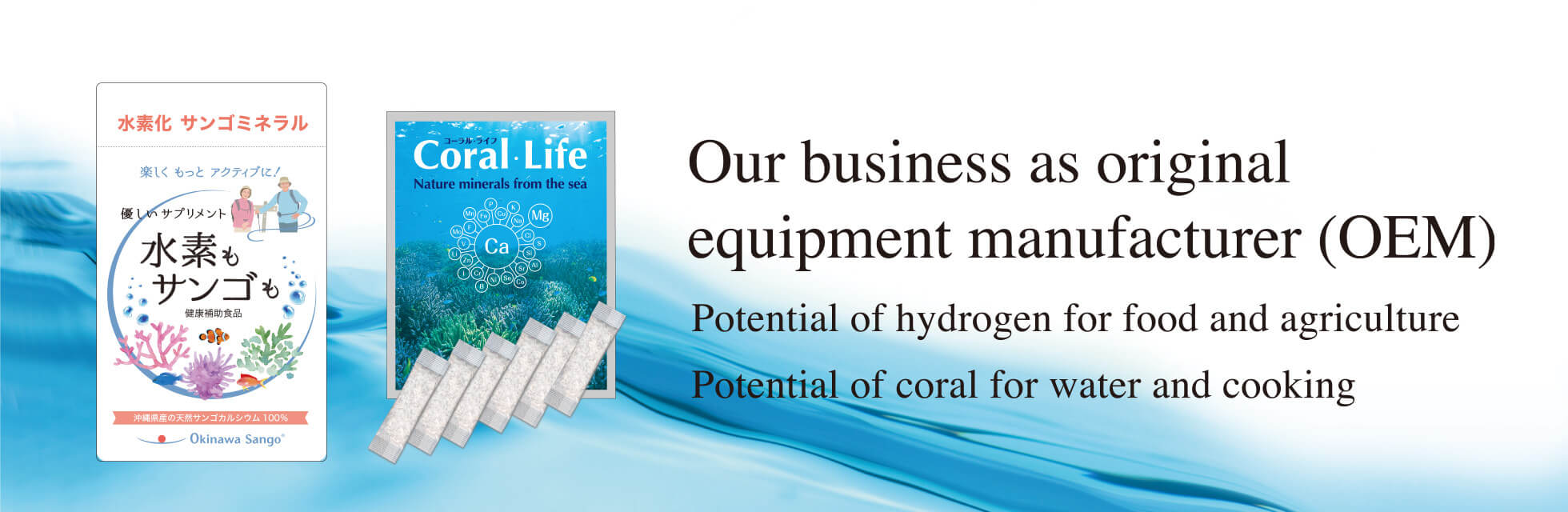 Started production on OEM Potential of hydrogen for Food and Agriculture Potential of Coral for Water and Cooking